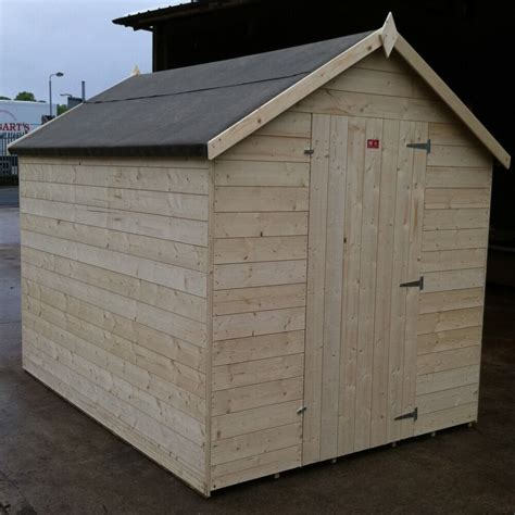 garden shed heavy mm tongue  groove apex roof