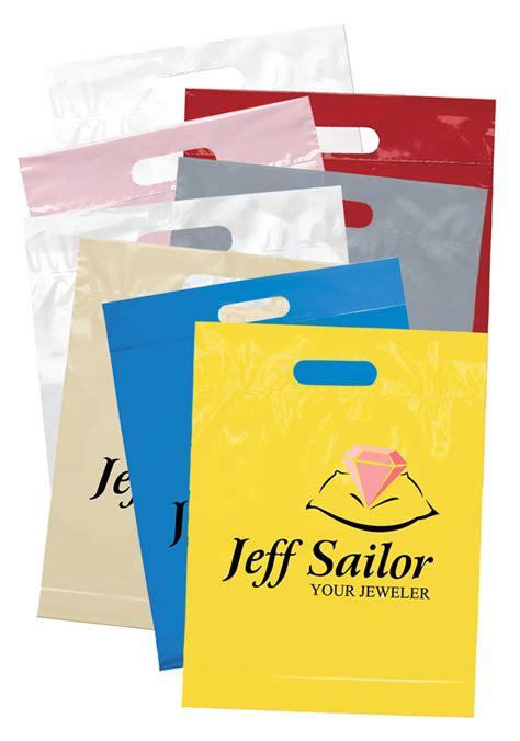Custom Die Cut Handle Plastic Bags   BM19FS1215   DiscountMugs