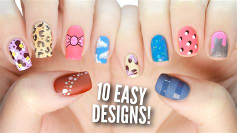 Easy Nail Paint Designs by 10 Easy Nail Designs For Beginners The Ultimate Guide