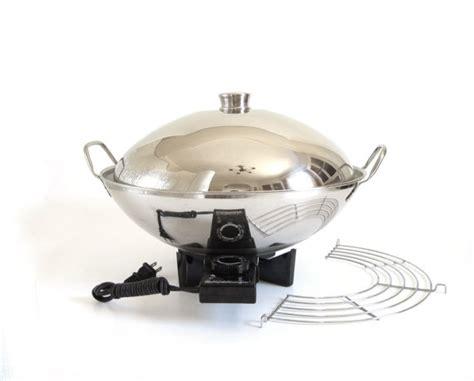 Wok Kitchen Appliance by Farberware Electric Wok 343a Stainless Steel 1980s Kitchen
