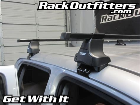 Tacoma Thule Roof Rack by Rack Outfitters New Toyota Tacoma Cab Thule Traverse Square Bar Roof Rack 05 13