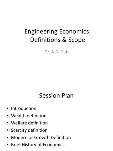 Engineering Economics For Resourcesoriginal engineering economics