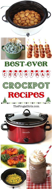 crockpot christmas recipes from thefrugalgirls com