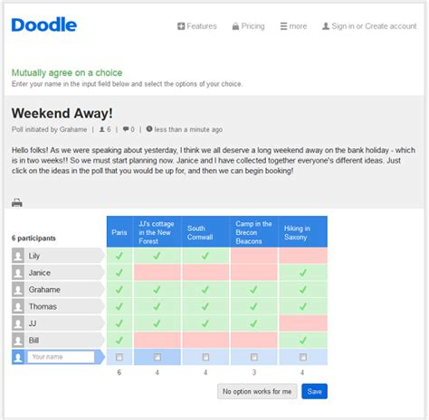how to create a poll on doodle free survey from doodle doodle