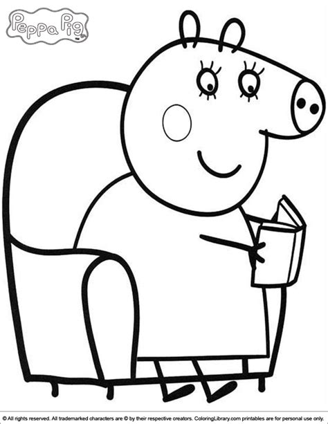 peppa pig valentines coloring page free coloring pages of peppa pig at the beach