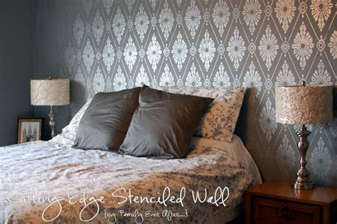 bedroom wall stencils bedroom ideas on pinterest bedroom feature walls