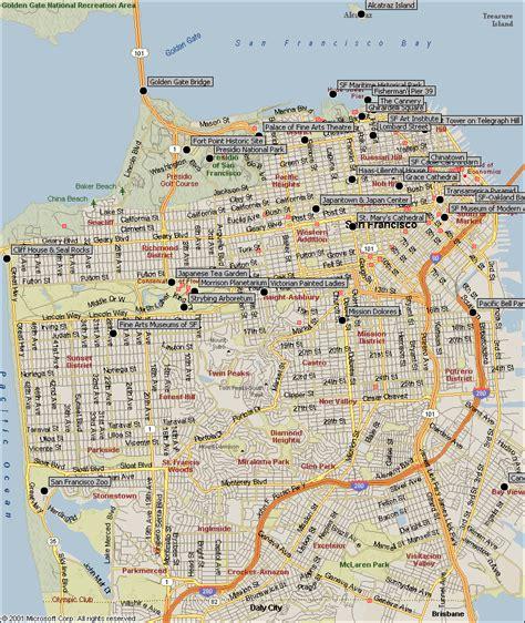 san francisco usa map maps of san francisco