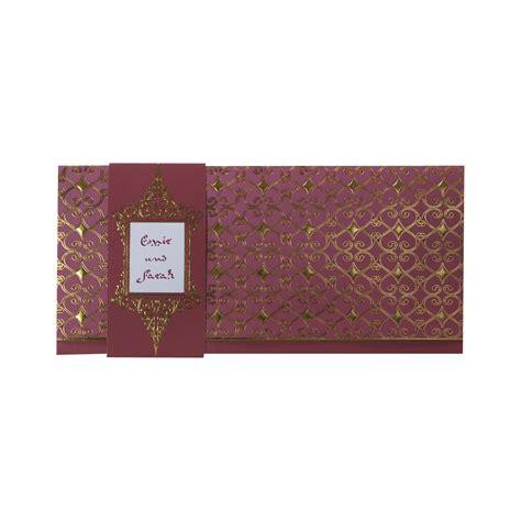 Einladungskarten Hochzeit Altrosa by Orientalische Einladungskarte Altrosa Mit Goldenem Folien