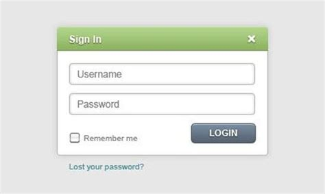 30 free web login page form psd templates