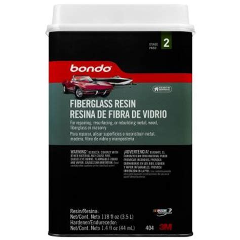 3m bondo 118 oz fiberglass resin 0404 the home depot