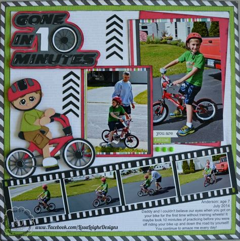 scrapbook layout cycling 58 best images about scrapbooking boys on pinterest ebay