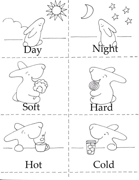 opposites coloring pages for toddlers 3 in 1 printables littlebunnyseries