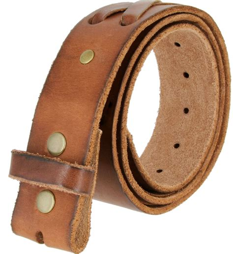 tb105 brown genuine laced leather belt 1 3 4 quot wide