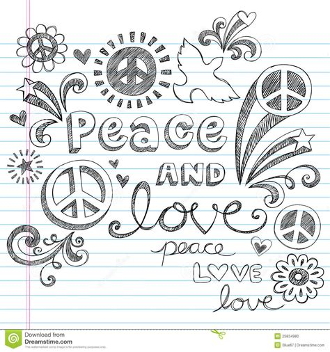 doodle peace sign peace signs sketchy doodles vector stock photo
