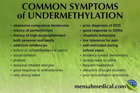 Common Detox Symptoms by Common Symptoms Of Undermethylation Are A History Of High