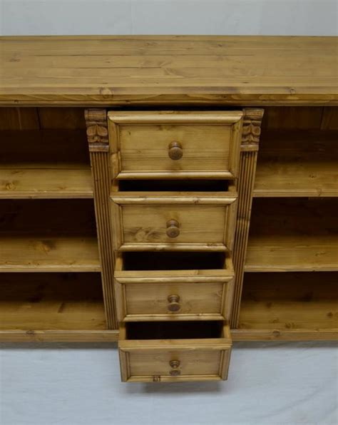 Pine Bookcase With Drawers by Pine Bookcase With Four Drawers For Sale At 1stdibs