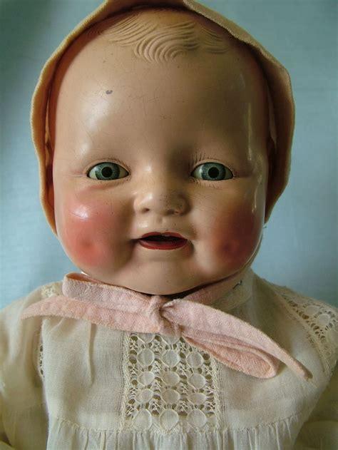 composition doll dimples antique horsman composition baby dimples doll high color