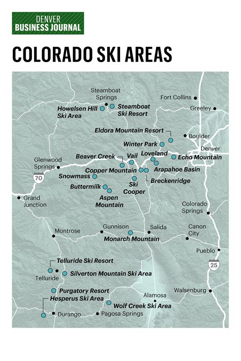 colorado ski resorts map the big players in colorado skiing denver business journal