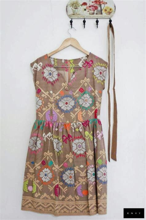 Dress Batik Tenun tenun indonesia fashion i creative cultural apparel indonesia