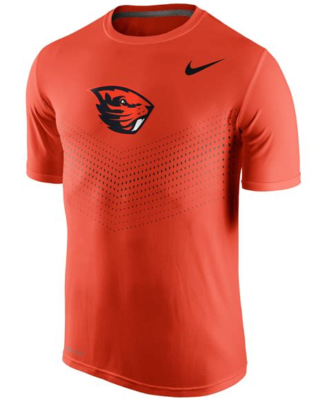 Nike Ncaa Oregon State Beavers Legend Day T Shirt nike s oregon state beavers legend sideline t shirt in orange for lyst