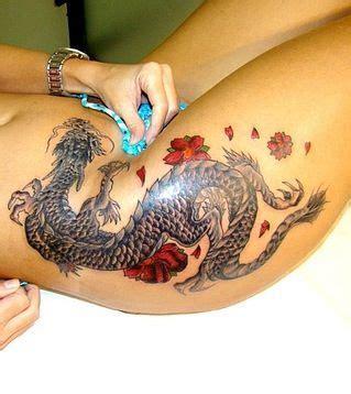 dragon tattoo on hip dragon tattoo in thigh except wearing the underwear lol