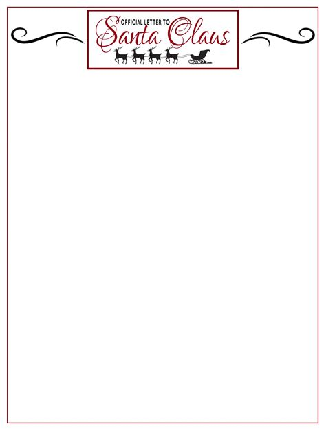 free printable letter from santa template easy free letters from