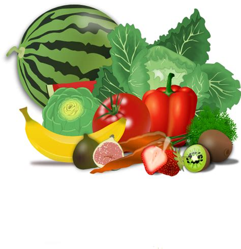 fruits and vegetables clipart fruits veggies healthy clip at clker vector