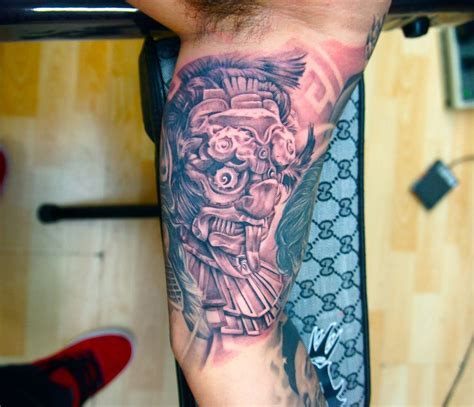 tattoos on inner bicep for men aztec tattoos and designs page 60