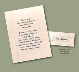 traditional graduation announcement name cards invitations ideas