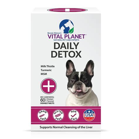 Detox Chewable by Vital Planet Daily Detox Chewable Tablets For Dogs 60