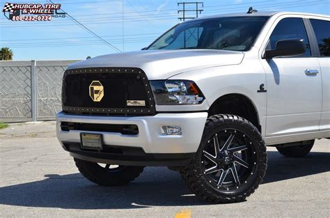 Dodge Ram 2500 Fuel Renegade D265 Wheels Black & milled