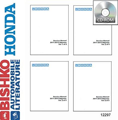 free car repair manuals 2011 honda odyssey engine control bishko automotive literature 2011 2012 honda odyssey shop service repair manual cd engine