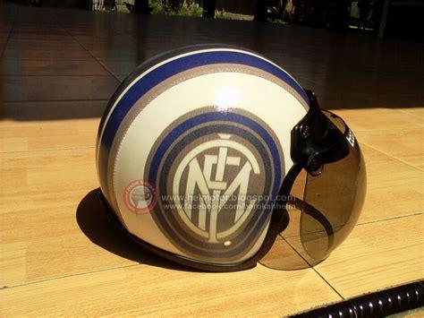 Half Helm Sapi Xyz Bogo helm bogo vinyl inter milan helm vespa