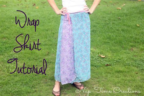 wrap skirt sewing pattern free patterns wrap skirt tutorial nap time creations