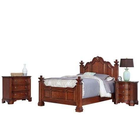 santiago bedroom furniture santiago cognac queen bed night stand and chest home