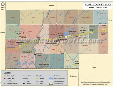 rusk county texas map buy rusk county map