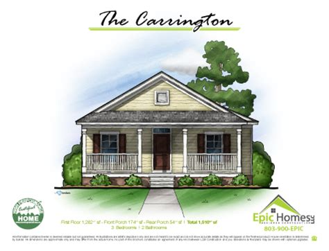 Custom Home Floor Plans Epic Homes South Carolina Custom Home Plans South Carolina