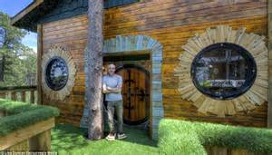 tiny house hotel near me hobbit tree house rental in black south dakota wows lord of the rings fans daily mail