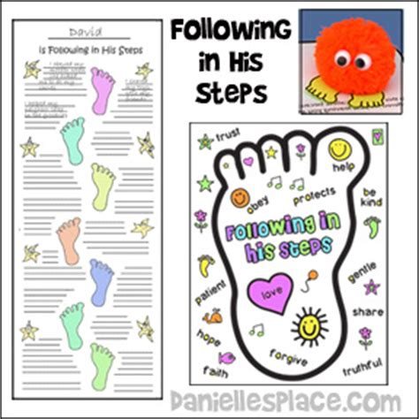 new year story lesson following in his steps bible lesson printable craft