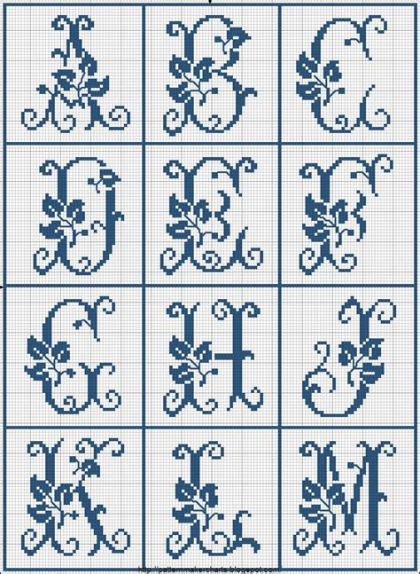 cross stitch alphabet pattern maker free 1000 images about monogramy on pinterest cross stitch