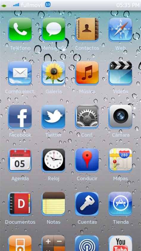 themes nokia n9 n9 meego iphone theme para nokia n9