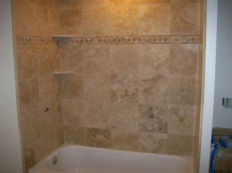 bathtub with tile 20 pictures about is travertine tile good for bathroom