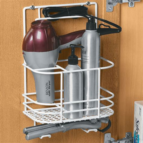 bathroom organizers for hair dryer hair care rack in hair dryer holders
