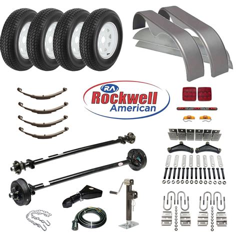 axle parts tandem axle trailer parts kit 7 000 lb capacity brakes