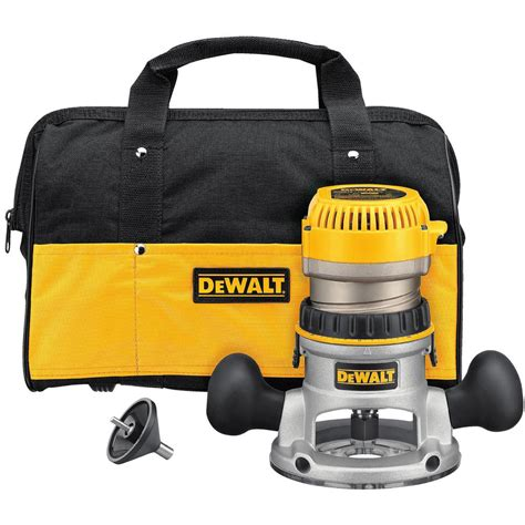 dewalt 1 3 4 hp fixed base router kit dw616k the home depot