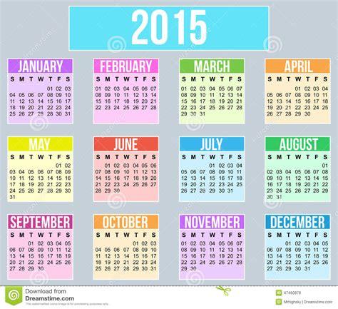 Calendrier De L Annee Calendrier De L 233 E 2015 Photo Stock Image 47460878