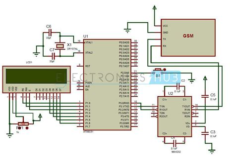 8051 microcontroller block diagram digital block diagram