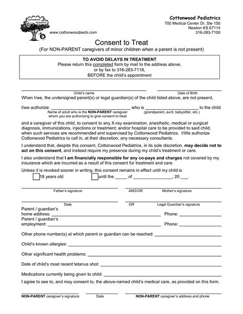 sample letter of consent to travel parental authorization letter