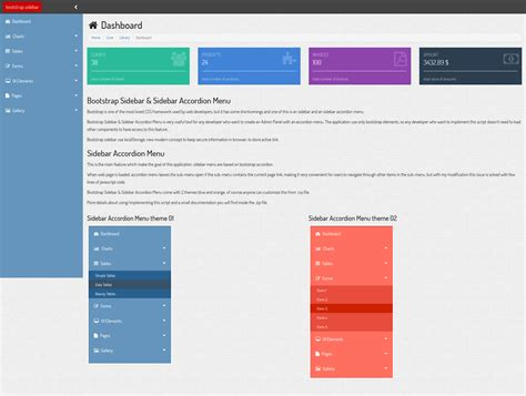 bootstrap sidebar sidebar accordion menu by solutii soft