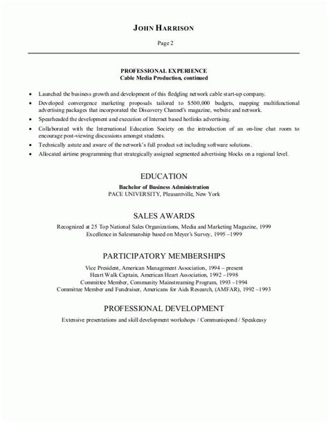 Resume Sles For Entertainment Advertising Director Resume Sales Director Lewesmr